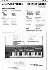 Roland JUNO-106 Service Manual, Schematics Layouts Battery Change, JUNO106 Notes