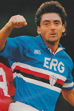 Football Photo ROBERTO MANCINI Sampdoria 1991-92