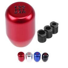 1x Universal Red 5-speed Shift Knob Gear Stick Shifter Manual JDM Aluminum MT