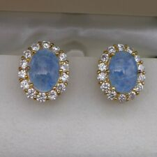 Vintage Suzanne Somers Faux Opal And CZ Clip Earrings, Signed