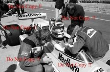 GILLES Villeneuve McLaren m23 di British Grand Prix 1977 fotografia 7
