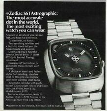 1974 Zodiac SST Astrographic Satellites Moon Watch Original Print Ad