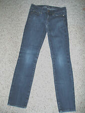 Womens AMERICAN EAGLE Skinny Stretch Low Rise Denim Blue Jeans~Size 00 Short