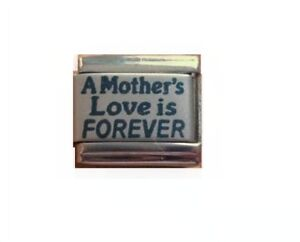 9mm Italian Charm L106 Mum A Mother's Love is forever Fits Classic Size Bracelet