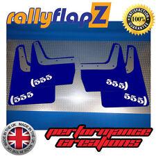 SUBARU IMPREZA Classic (93-01)GC8 Mud Flaps Mudflaps 4mm PVC Blue 555 Logo White
