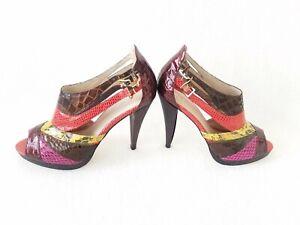 Women's Aldo dress shoe size 10, high heel, multi colored