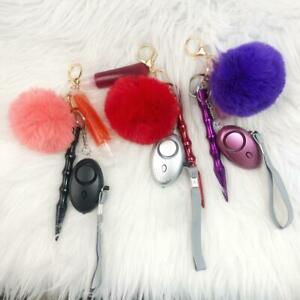 Safety Keychain for Women, Cute Safety Keychain with Vegan Lipgloss
