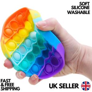 Pop Push It Bubble Fidget Toy Special Needs Silent Sensory Autism Stress Relief