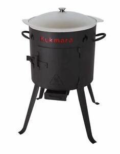 Feuer-Ofen Utschak 29cm mit 4,5 L Liter Aluguss Kazan Kasan Camping Tatarskij