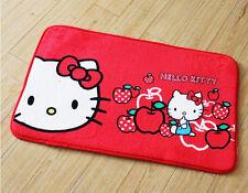 Super Soft Hello Kitty Plush Coral Velvet Door Floor Mat Rug Skidproof Red