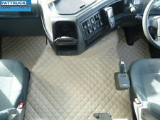 TRUCK ECO LEATHER FLOOR MATS SET FIT VOLVO FH3  2009-2013 TWIN AIR SEATS-BEIGE