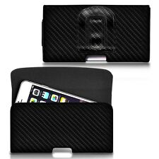 For DOOGEE DG310 Horizontal Carbon Fibre Belt Pouch Holster Case Cover