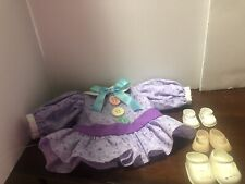 vintage doll dress & shoes lot