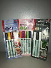 Marabu GlasPainter Assorted Packs  - Draw/Paint on Crockery, Glass, Kids Parties