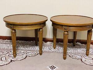 Vintage Heritage HENREDON Round Side End Tables