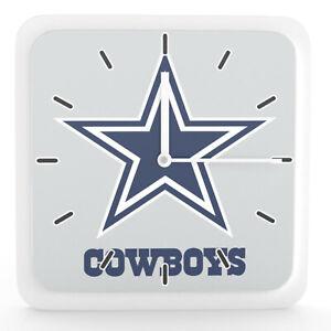 "NFL Dallas Cowboys Home Office Room Decor Wall Desk Clock Magnet 6""x6"""