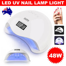 48W UV Nail Lamp SUN5 Gel Polish Manicure Kit LED Dryer Timer Sensor Light