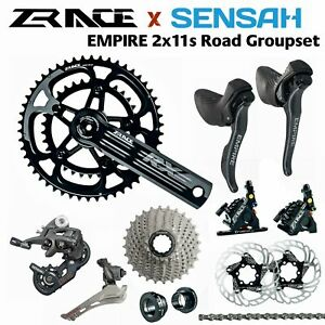 SENSAH EMPIRE 2x11 Speed, 22s Road Groupset Disc brake road bike ZRACE RX crank