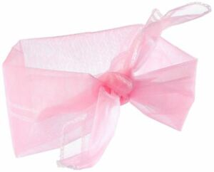 1950's 50s Neck Scarf Chiffon Style - Pink