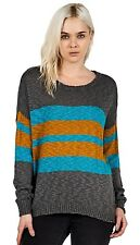 2015 NWT WOMENS VOLCOM CAUSE N EFFECT SWEATER $60 S charcoal pullover knit soft