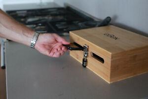 Phone box with lock eBox bamboo mobile