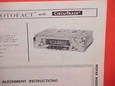 1967 PLYMOUTH BARRACUDA FURY DODGE POLARA CONVERTIBLE AM RADIO SERVICE MANUAL 67
