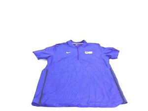 Nike Shirt Purple 1/4 Zip Short Sleeve Pullover Lockdown Collection Mens Size XL