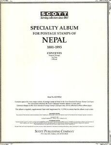 Nepal 1881 - 1997, Scott's Specialty Album, #7 - #234, 53 stamps, Cat$220+