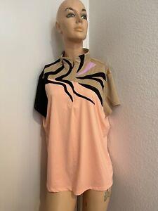 JAMIE SADOCK colorful active zip top size XL