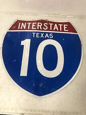 Authentic Retired Texas Interstate 10 (Texas) Highway Sign El Paso San Antonio
