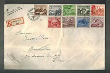 1940 Nuremburg Germany Registered Oversize Cover to Brussels Belgium