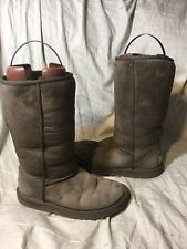 Women's Ugg Australia Classic Tall Boots Chocolate Brown #5815 Size 7 Fair Cond