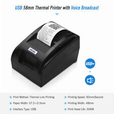 HOIN Small Portable USB 58mm Thermal Receipt Printer for Supermarket Store G6U7