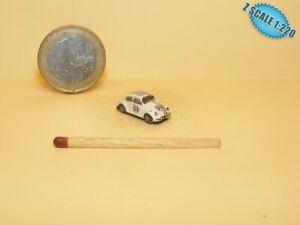 Volkswagen 1200 Herbie Z scale 1/220 Hand-painted Metal Model
