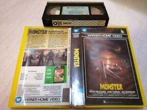 MONSTER 1980 - RARE Pre Cert Warner Home Video Vhs Roger Gorman Classic - HORROR
