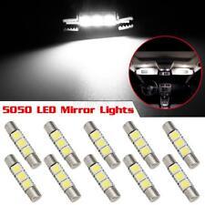 10X Xenon White 3SMD 5050 LED Bulbs Interior Sun Visor Vanity Mirror Lights 6641