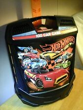 Hot Wheels 100 Car Toy Carrying Case Matchbox Box Storage Handle Tote Roller GW