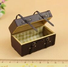 Dollhouse Miniature 1:12 Scale Vintage PU Leather Trunk Fairy Home Furniture
