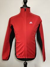 Adidas Climawarm Fleece Lined Red Black Bike Cycle Cycling Jacket Medium VGC