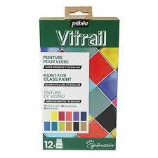 Pebeo Vitrail Glass Paint Exploration Set 12 x 20ml
