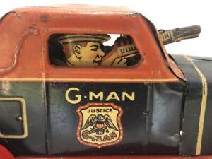 Marx G-Man  Pursuit Car