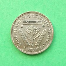1927 South Africa Silver Threepence SNo56763