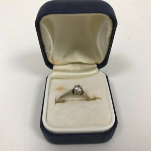 Vintage 18ct 750 Hallmarked Yellow Gold Diamond Solitaire Engagement Ring 2.18g