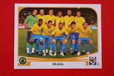 Panini SOUTH AFRICA 2010 486 BRASIL TEAM TOPMINT!!