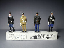 4  FIGURINES  1/43  SET  324  GENDARMERIE  POLICE  NATIONALE  VROOM  UNPAINTED