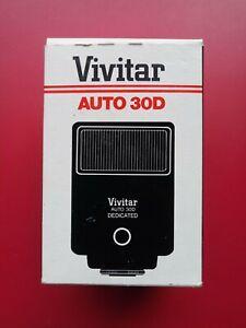 VTG *Vivitar Auto 30D Electronic Flash* Minty/Orig Box◾Sears Canon Nikon Ricoh
