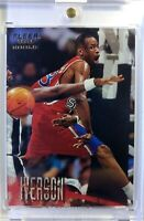 1996 96-97 Fleer Rookie European Edition Allen Iverson RC #265, 76ers HOF