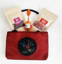 Perfect Gift Idea-Handcrafted Oriented Bag with Rose Tea Set by Tsimsy Suzy