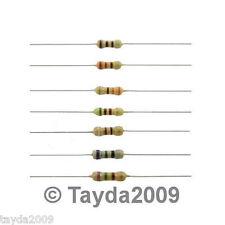 50 x Resistors 1K Ohms OHM 1/4W 5% Carbon Film