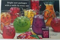 1962  Kool-Aid smile in every smiley face pitcher vintage two page ad